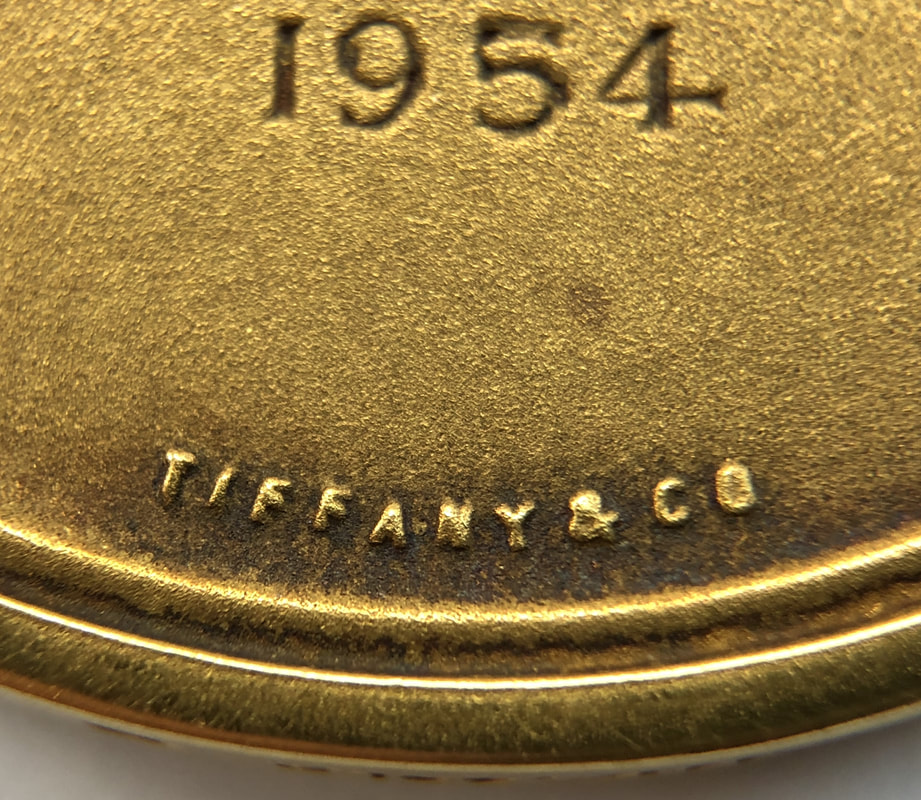 1954 Samuel Wylie Miller Award Medal, by Tiffany & Co. in 14K Gold, presented to John J. Chyle