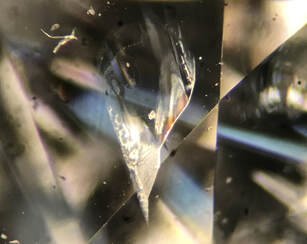 Fracture-filled diamond inclusions