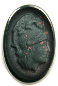 Carved bloodstone chalcedony hard stone cameo