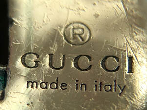 Jewelry hallmark of Gucci