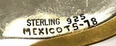 Mexican letter/number hallmarking system.  Circa post 1979