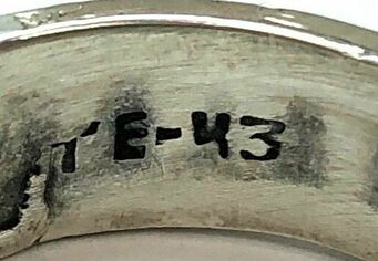 Mexican letter/number hallmarking system.  Signed