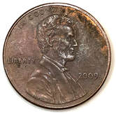Obverse of a 2009 Lincoln Bicentennial Cent