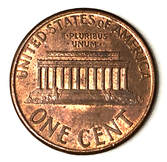 Reverse of a 1996 Lincoln Memorial Cent
