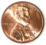 Obverse of a 1996 Lincoln Memorial Cent