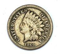 Obverse of an 1860 Indian Head Cent