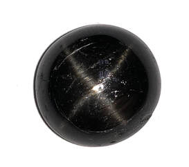 27.63 ct. natural black star diopside