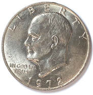 Obverse of a 1972 Ike Dollar