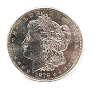 Obverse of an 1878 U.S. Morgan Dollar