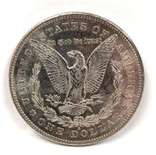 Reverse of an 1878 U.S. Morgan Dollar